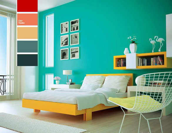 Bed Room Color Combination And Bedroom With Decorating Ideas Paint Colors By V S Painting Services